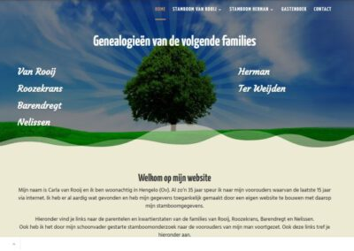 Genealogie website
