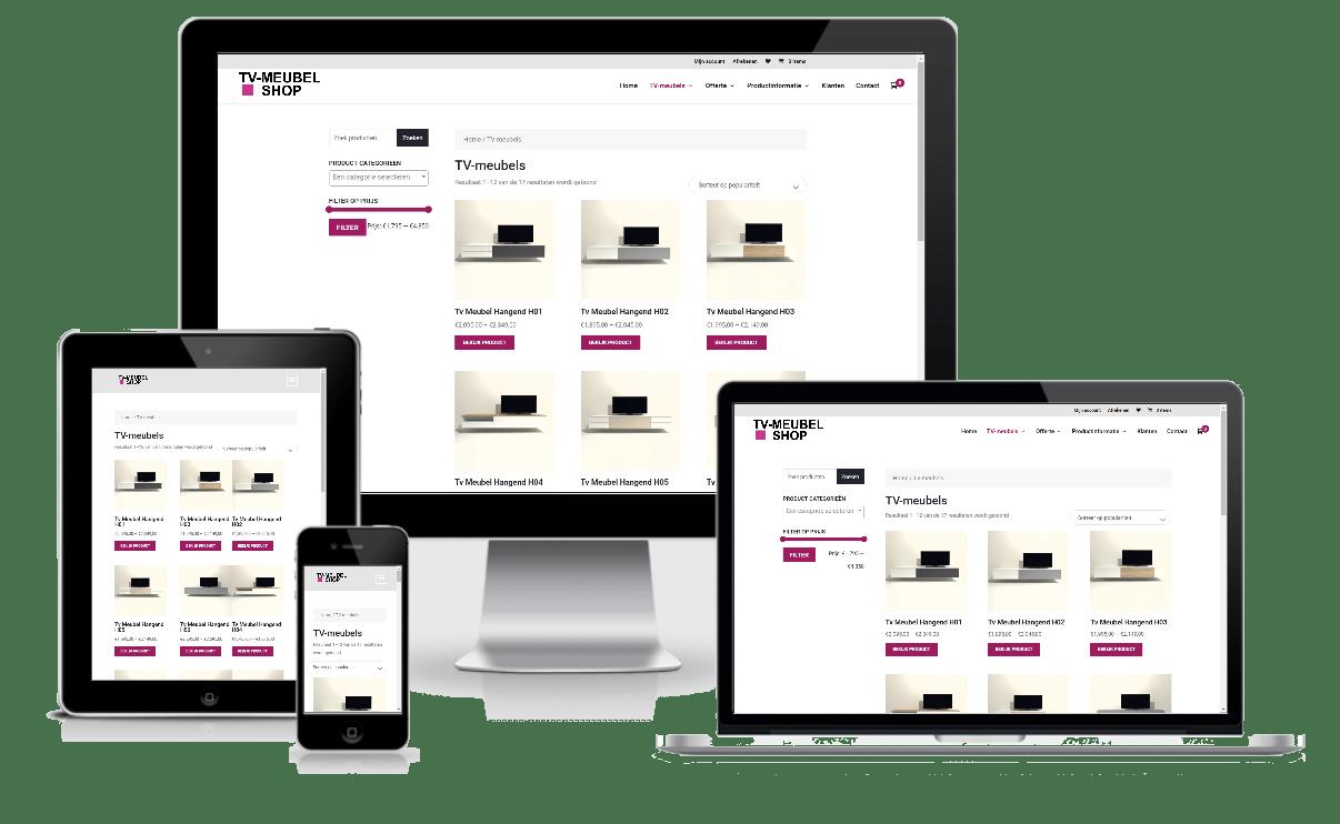 portfolio Care-align Webdesign tv-meubel.shop