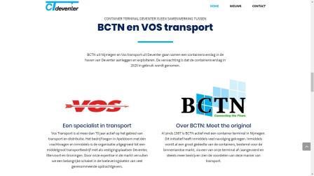 webdesign portfolio container terminal Deventer