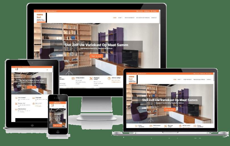 webdesign portfolio Variokast webshop