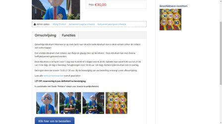 portfolio opblaasoudjes huren Care-align Webdesign