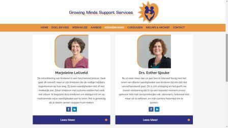portfolio Care-align Webdesign Growing Minds Support Services