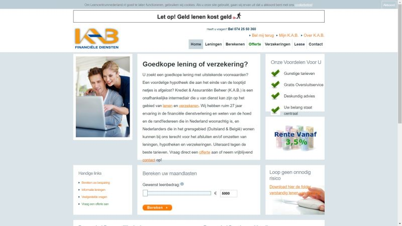 Oude website KAB